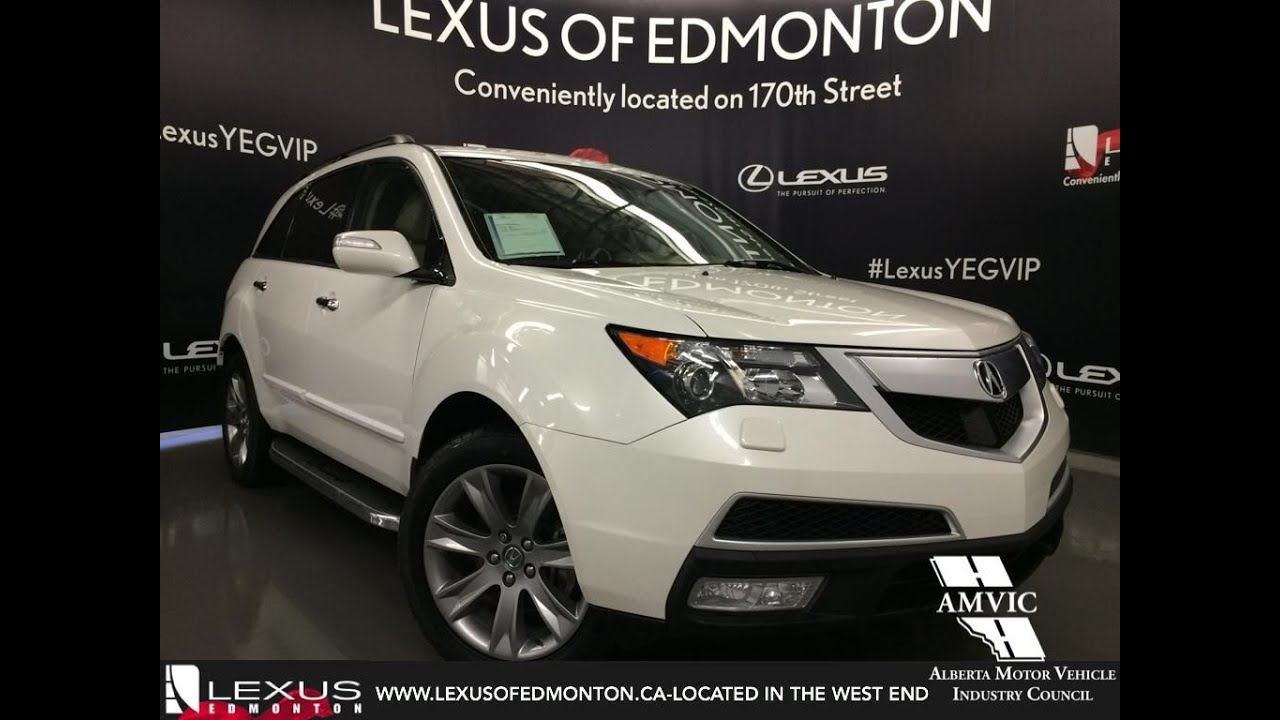 used white 2013 acura mdx awd elite pkg walkaround review calgary