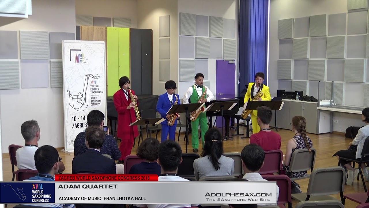Buglers Holiday by Leroy Anderson   Adam Quartet   XVIII World Sax Congress 2018 #adolphesax