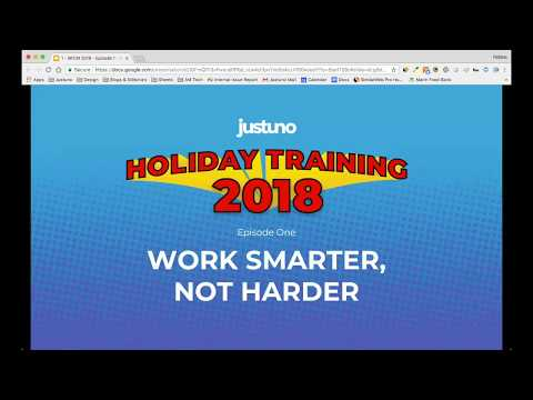 Holiday Hero Training 2018: Episode 1 - Work Smarter Not Harder