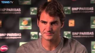 Indian Wells 2015 - Roger Federer interview post- Berdych match