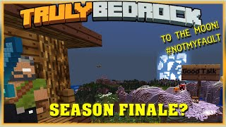 Truly Bedrock E79 Season Finale? To the Moon!! #NotMyFault! | Minecraft Bedrock, MCPE, MCBE