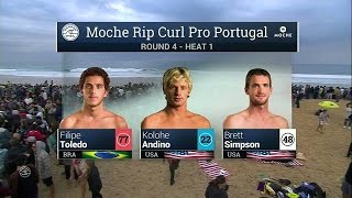 Moche Rip Curl Pro Portugal: R4, H1 Recap
