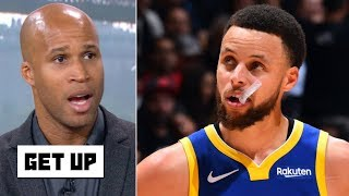 Steph Curry scoring 47 without KD and Klay 'sounds about right' - Richard Jefferson | Get Up