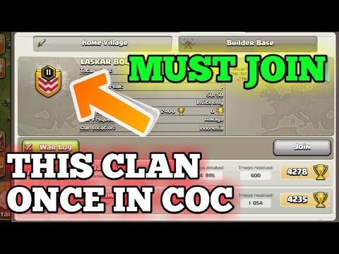 WOW {You must join this clan the best clan} Clash of clans.