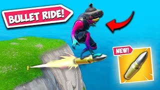 *SUPER RARE* RIDING A SNIPER BULLET! - Fortnite Funny Fails and WTF Moments! #576