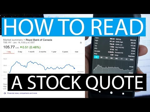 How To Read A Stock Quote