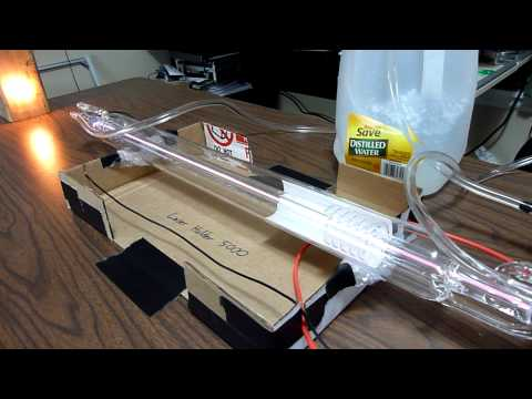 40 Watt CO2 Laser Tube - First Test