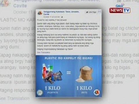 SONA: 1kg. ng plastic kapalit ng 1kg. ng bigas, proyekto ng SK sa brgy. Talon sa Amadeo, Cavite thumbnail