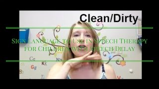 Sign Language to Use in Speech Therapy for Children with Speech Delay