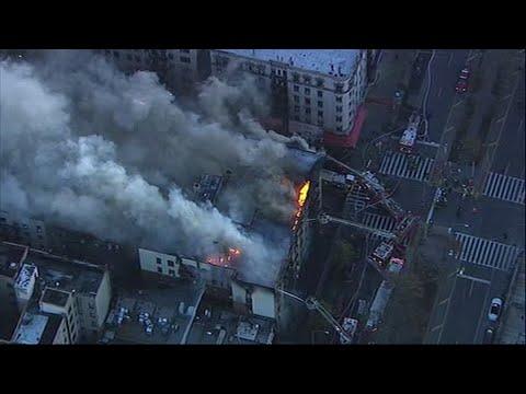 FDNY Battles Apartment Blaze in New York