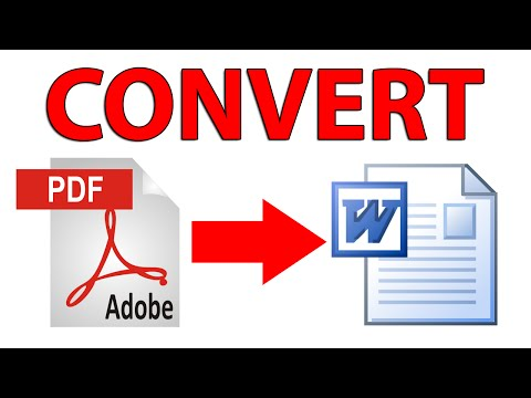 How to convert PDF file to .doc / .docx (Word) file - Tutori