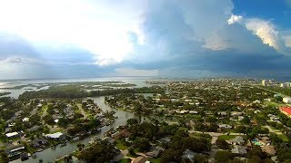 Storms Over Cocoa Beach Cape Canaveral And Merritt Island by Drone