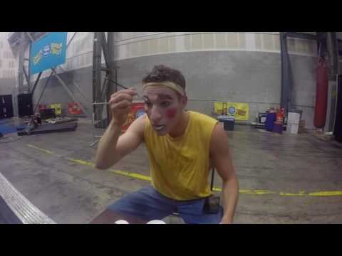 Behind the Scenes: Asa Applying Clown Makeup - Ringling Bros. Presents Out Of This World