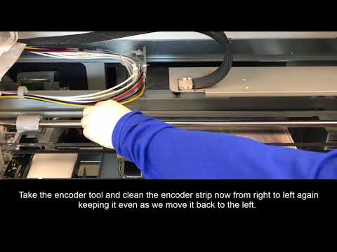 GT3 Maintenance - How to Perform the Encoder Strip Cleaning