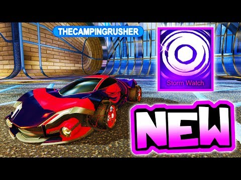 "Using NEW ""STORM WATCH"" Mystery Decal!! ( Rocket League Victory Update )"