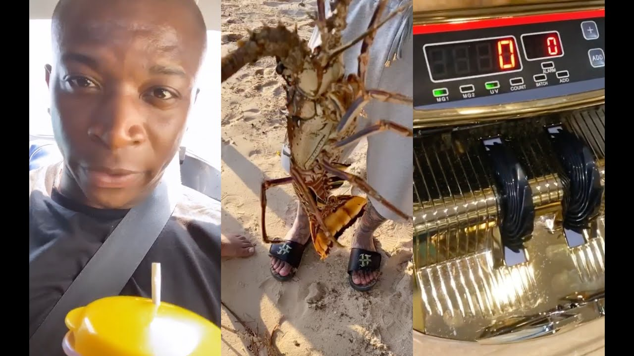 OT Genasis Buys A Gold Money Counter And Catches Lobsters In Jamaica