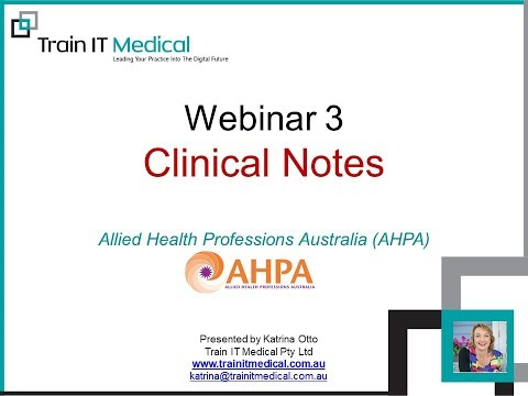 Clinical note-taking for Allied Health Professionals with Katrina Otto