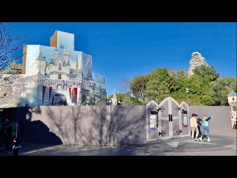 Major Construction Update at Disneyland Resort - NEW Castle Overlay / Downtown Disney & DCA Changes