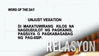 Word of The Day: Unjust Vexation