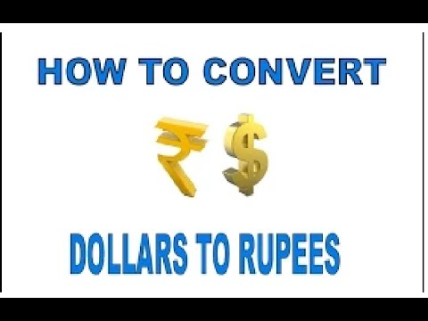 How To Convert Dollars To Rupees In Youtube In Hindi/urdu