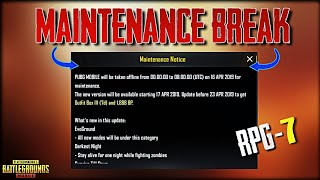 Maintenance Break PUBG Mobile 0.12.0 New Update is Here