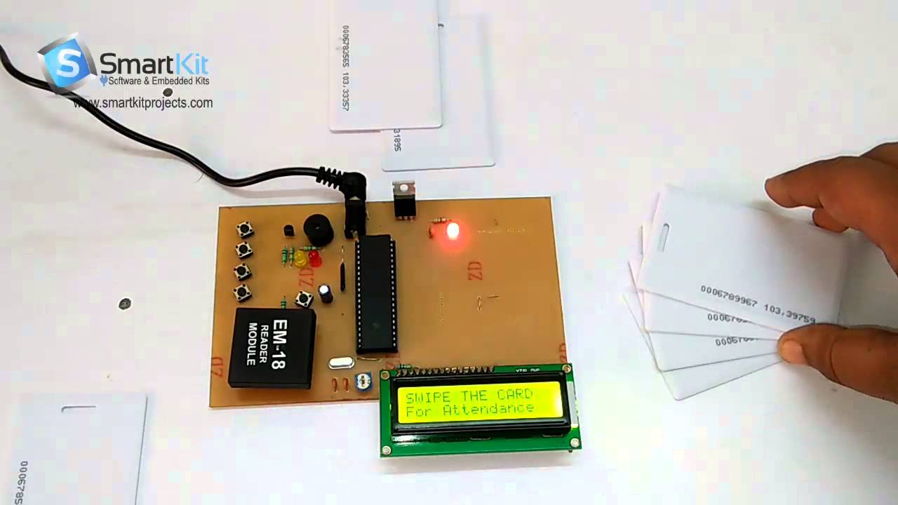 RFID Based Student Attendance System using 8051 Based Microcontroller