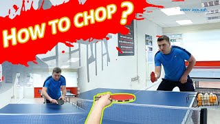 "How to ""CHOP & PUSH"" Backhand & Forehand Defensive Technique 