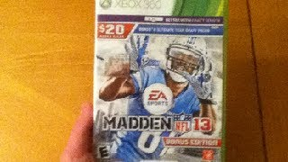 Madden NFL 13 Bonus Edition Unboxing!