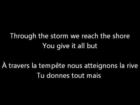 U2 With or without you traduction francaise