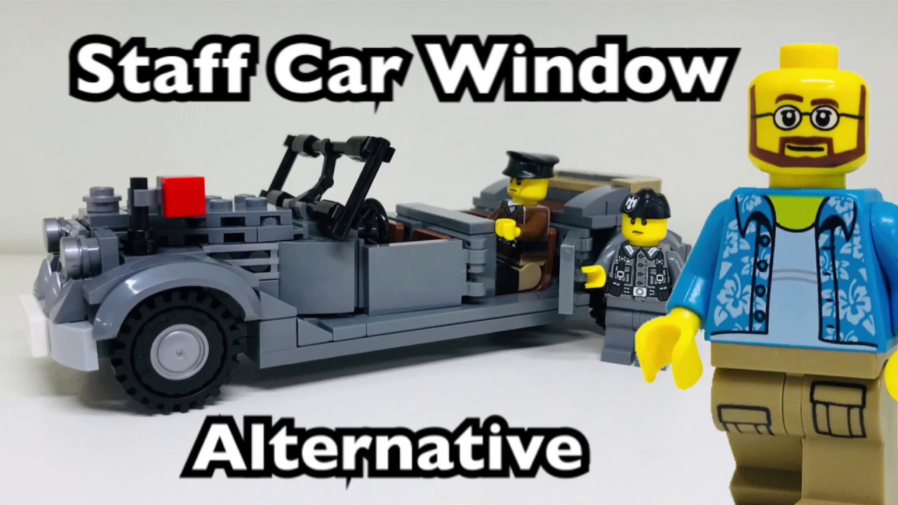 BrickMania German Staff Car window alternative