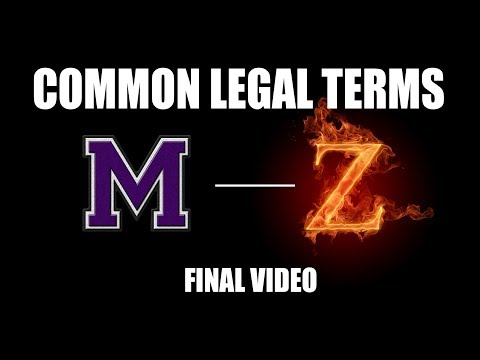 "COMMON LEGAL TERMS: ""M-Z"" - Legal Glossary - iRepMyself.com"