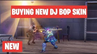 Buying New DJ Bop Legendary Skin With Gameplay Fortnite Battle Royale