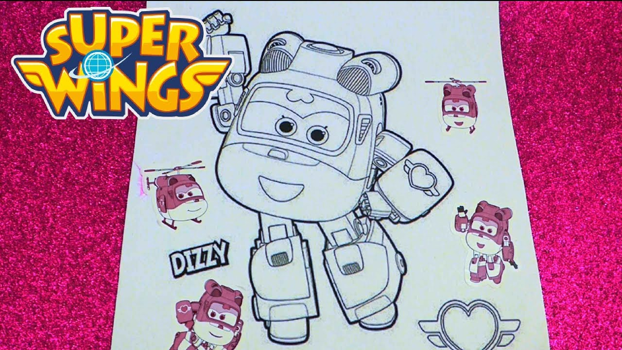 Super Wings Dizzy Coloring Pages💗 - YouTube