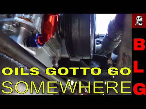 WHERE DO YOU RUN THE OIL DRAIN LINE ON A TURBO LS? Turbo LSX C10 Project SteppinWolf update
