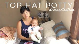 How to position baby on top hat potty