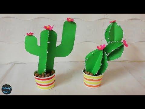 DIY Room Decor Cactus - Waste Material Craft Ideas - Home Decorating Ideas