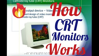 How CRT monitors works in computer graphics