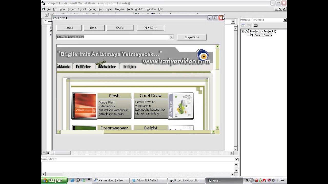 Visual Basic 6.0 Web Browser - YouTube