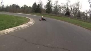 Pats Acres Practice on my new kart