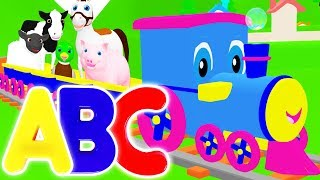 Alphabet Animals | Learn ABC Animals Song for Kids | Learning Train Teaches Animal Names & Counting