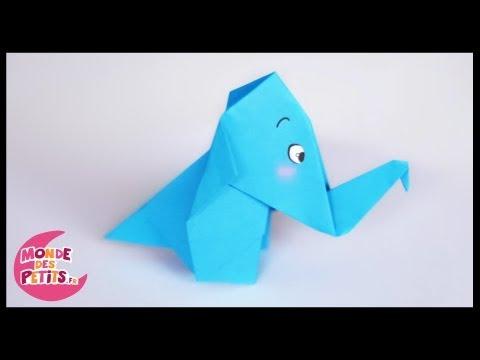 Origami:L'elephant en papier