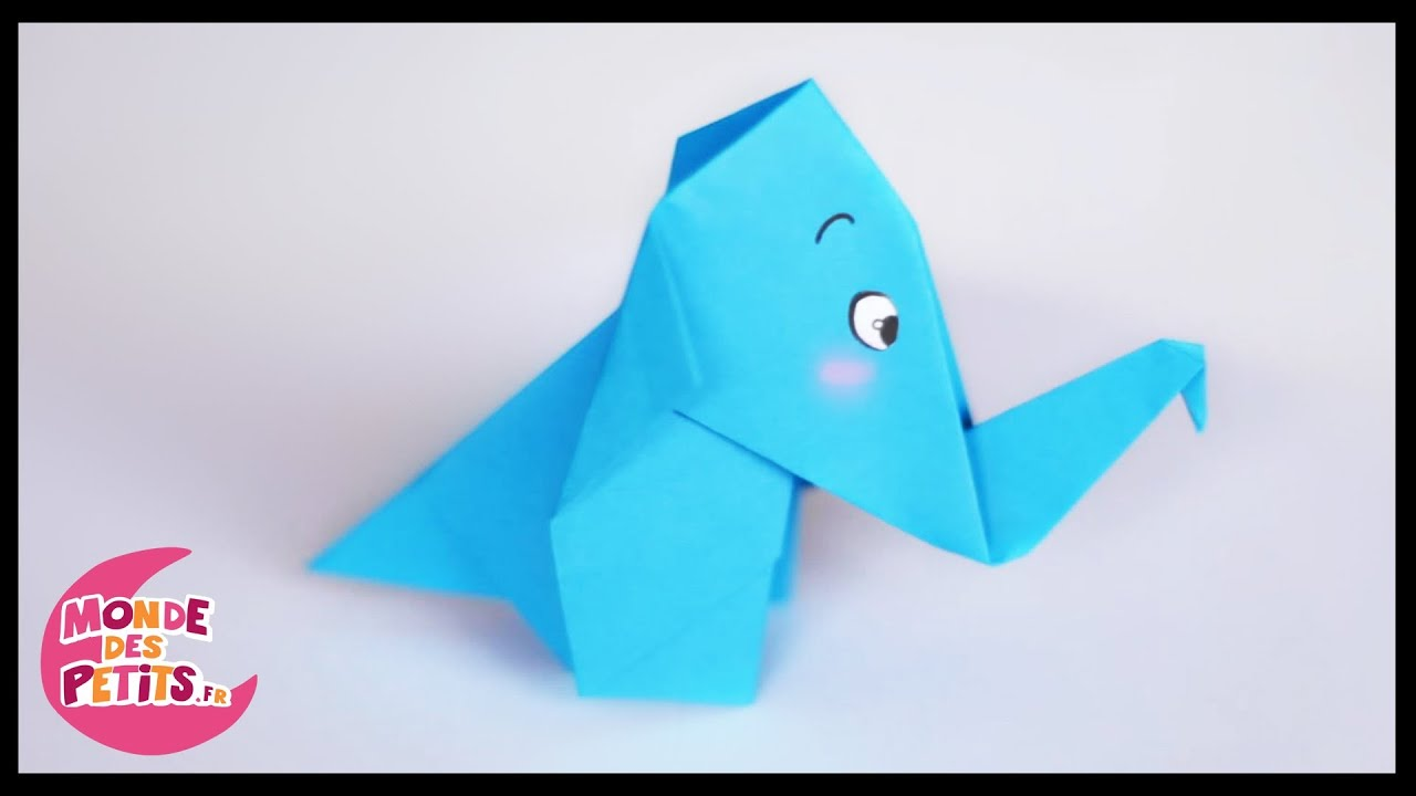Origami l 39 elephant en papier youtube - Origami simple enfant ...