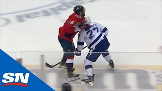 Alex Ovechkin Drops Ryan McDonagh With Elbow & Steven Stamkos Responds With Power Play Goal