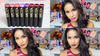 L.A. Girl Matte Flat Velvet Lipstick Swatches | Lookbook