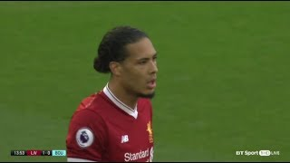 Virgil van Dijk vs Bournemouth 1642018 Home