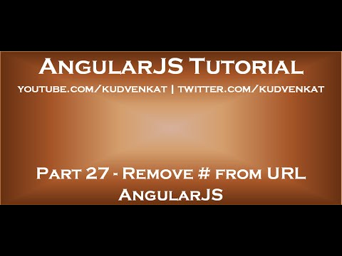 Remove # from URL AngularJS