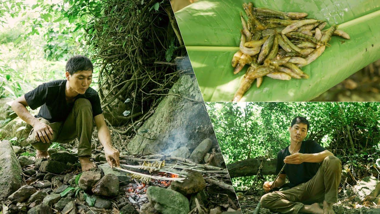 Primitive Skills - Mr Fang Went Fishing Near The Fresh Stream | Survival Challenge