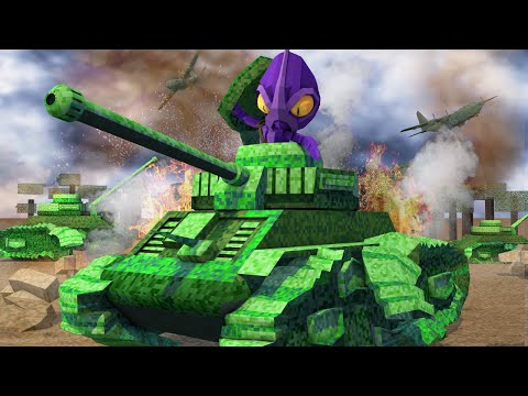 Minecraft |  WORLD WAR 2 BATTLEFIELD TANKS! WW2 Tanks Mod Showcase! (America, Germany, Battlefield)