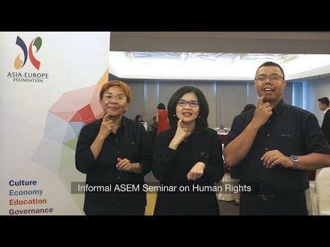 1st Annual Training under the Informal ASEM Human Rights Series