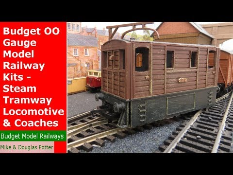 Budget OO Gauge Model Railway Kits – Steam Tramway Locomotive & Coaches – 3D Printed Kits